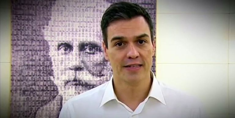 Pedro Sánchez in an image from a video addressed to Socialist Party members.