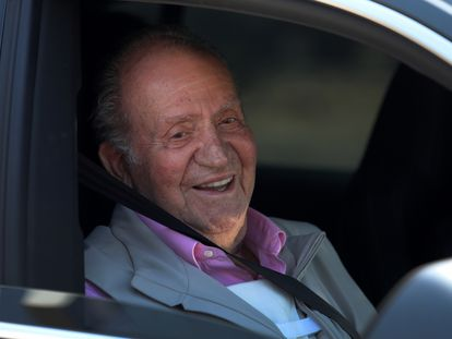 Emeritus king Juan Carlos I after medical treatment in August 2019.