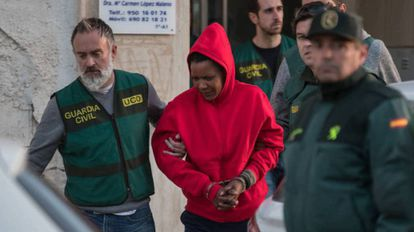 Ana Julia Quezada at the time of her arrest.