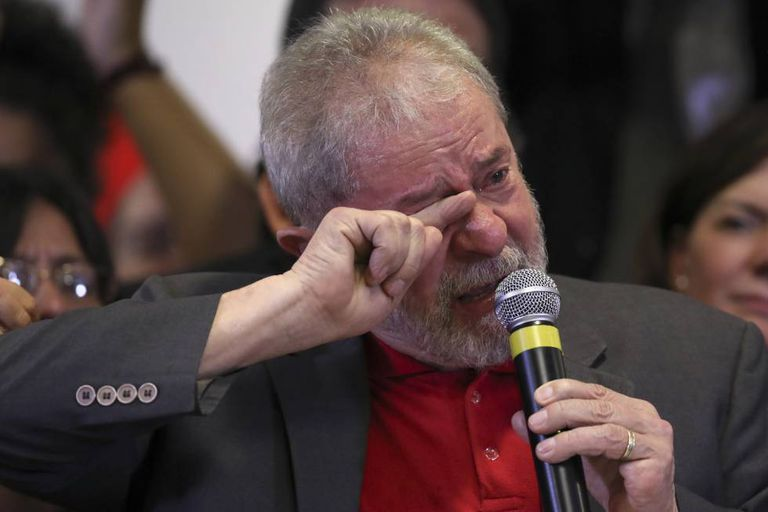Lula at his press conference on Thursday.