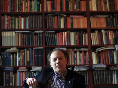 Spanish author Javier Marías in his home in the center of Madrid.