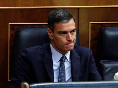 Acting Prime Minister Pedro Sánchez during the first investiture vote on Tuesday.
