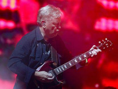 Blue Sunday: New Order guitarist Bernard Sumner on the FIB stage at the weekend.