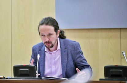 Unidas Podemos leader Pablo Iglesias in a file photo from earlier this month.