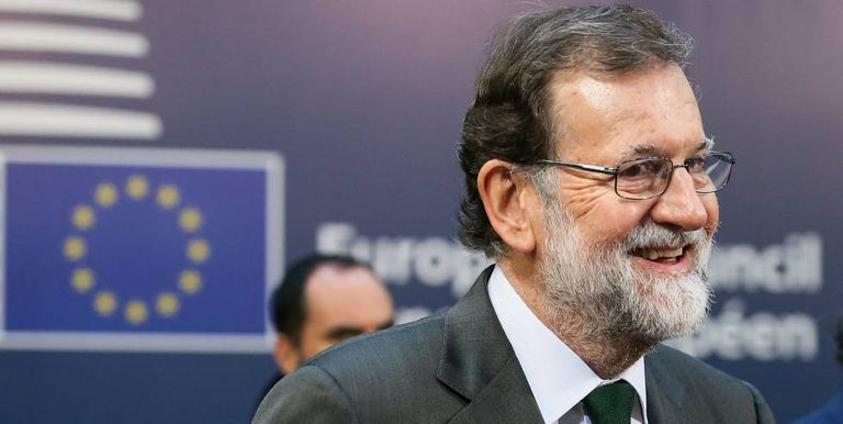 Spaniish PM Mariano Rajoy at the EU Council summit.