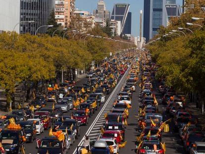 The Sunday protest against education reform on Madrid's Paseo de la Castellana.