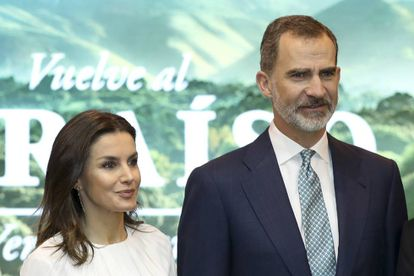 Spanish King Felipe VI and Queen Letizia at the opening of the 39th Fitur fair.