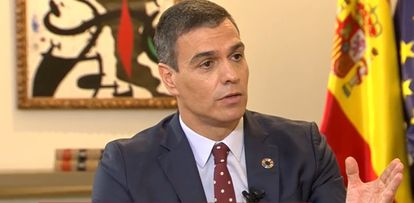 Spanish Prime Minister Pedro Sánchez during his interview on La Sexta.