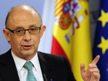Finance Minister Cristobal Montoro Romero announces Spain's 2012 budget plans.