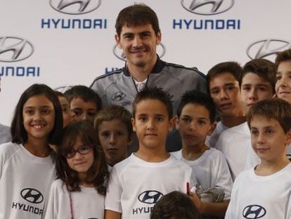 Casillas at a promotional event on Thursday.