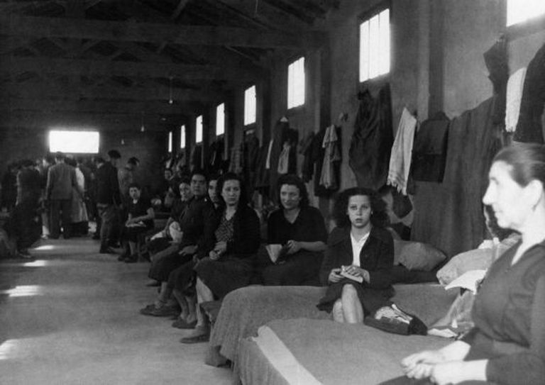 Women interned at the Rivesaltes concentration camp in March 1941.
