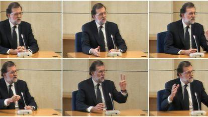Spanish PM Mariano Rajoy giving testimony over Gürtel last year.
