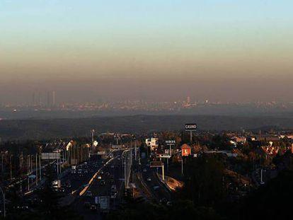 Smog in Madrid.