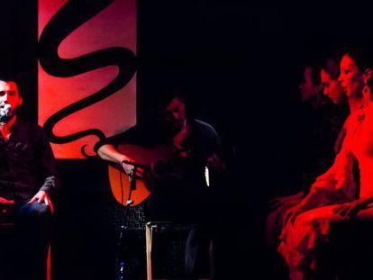 The stage at the El Juglar flamenco show.