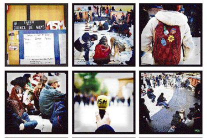 Images from the 15-M movement during its first year of existence.