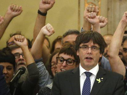 Carles Puigdemont, former regional premier of Catalonia.