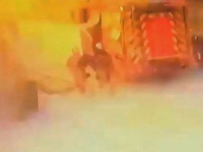 Firefighters release footage of Arganda del Rey accident last week that seriously injured three people