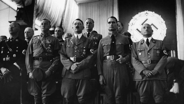 Hitler in 1937 with senior Nazi leaders.