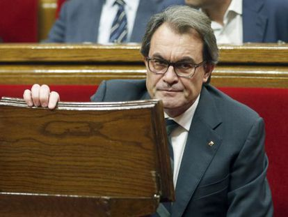 Artur Mas at the first investiture debate on Tuesday.