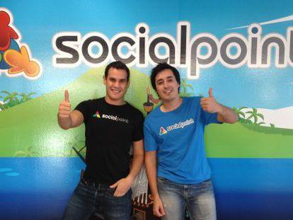 Horacio Martos and Andrés Bou, the founders of Social Point, a games producer.