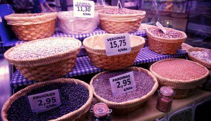 The Antón Martín food market in Madrid.