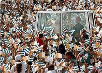 Pope John Paul II during a visit to Cuba in 1998.