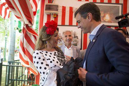 Andalusian premier Susana Díaz and PSOE leader Pedro Sánchez.
