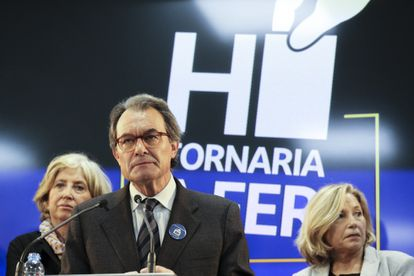 Artur Mas after learning of the sentence on Monday.