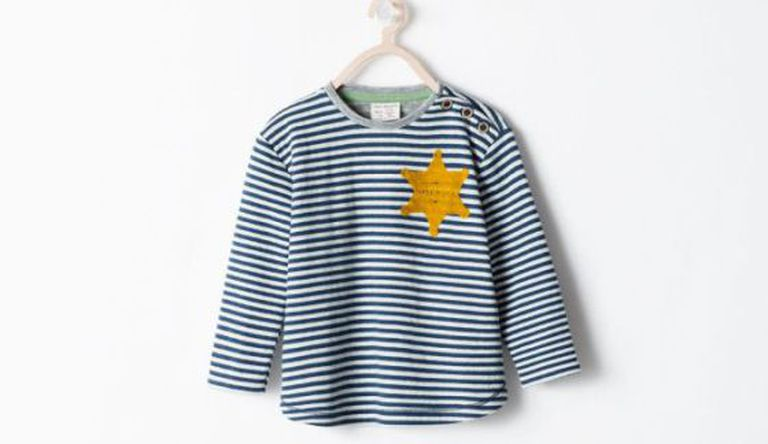 "Image of the controversial Zara shirt as published by the daily ""Haaretz"""