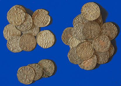 A hoard of 29 restored coins dating from the late 12th century to 1264.