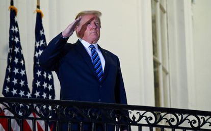 US President Donald Trump at the White House.