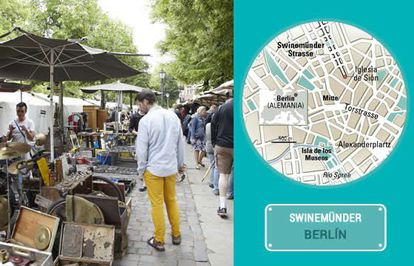 The Sunday market on Berlin's Swinemünder street.