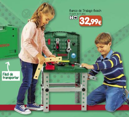 A toy workbench in the catalogue.