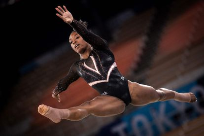 US gymnast Simone Biles at the Tokyo Olympic Games.