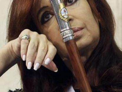 Argentina's Cristina Fernández de Kirchner during her inauguration last December.