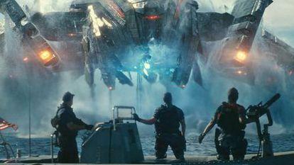 John Tui, Taylor Kitsch and Rihanna in a scene from 'Battleship.'