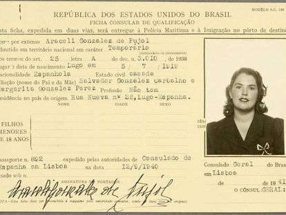 Araceli González's ID, released by Britain's National Archives.