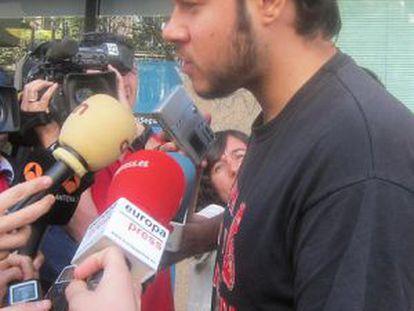 Rapper Pablo Hasel following his arrest in 2011.