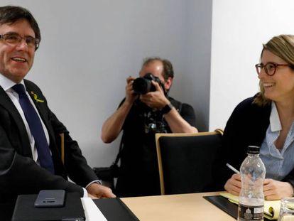 Carles Puigdemont and Elsa Artadi in Berlin.