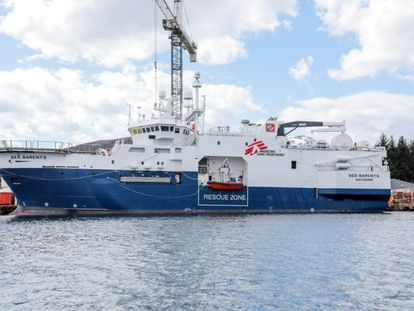 The 'Geo Barents,' the new rescue ship of Doctors Without Borders.