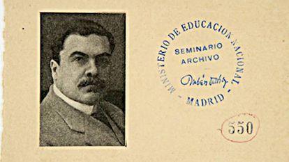 Rubén Darío at age 40.
