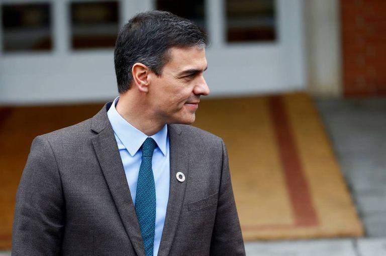 Spanish Prime Minister Pedro Sánchez at La Moncloa palace on Tuesday.
