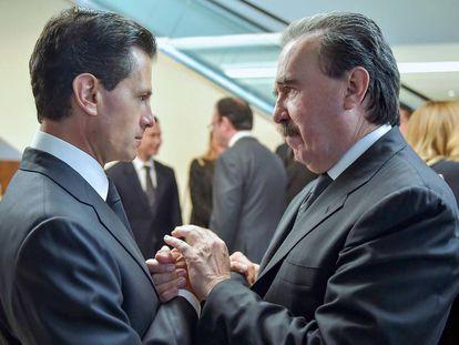 Enrique Peña Nieto and Senator Emilio Gamboa