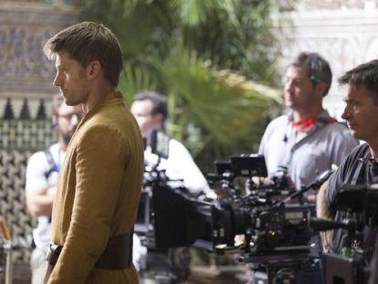 Actor Nikolaj Coster-Waldau during the Seville shoot on Thursday.