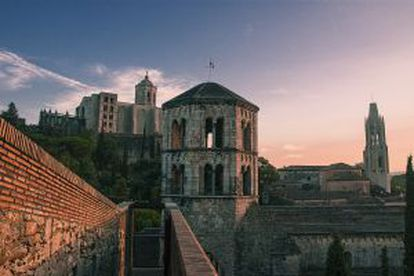 The abbey-monastery of Sant Pere de Galligants in Girona.