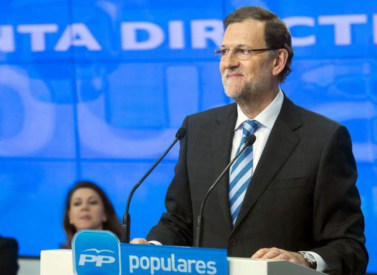 A photograph of Mariano Rajoy during Wednesday's party address, distributed by the PP.
