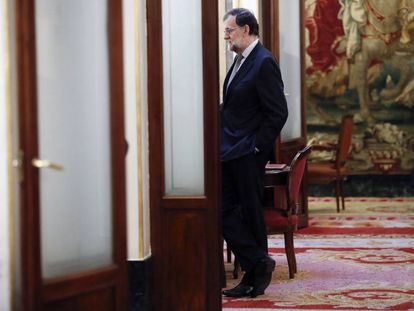 Spanish PM Mariano Rajoy in Congress on Wednesday.