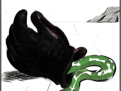 """Fascism: The snake sheds its skin, but not its venom."""