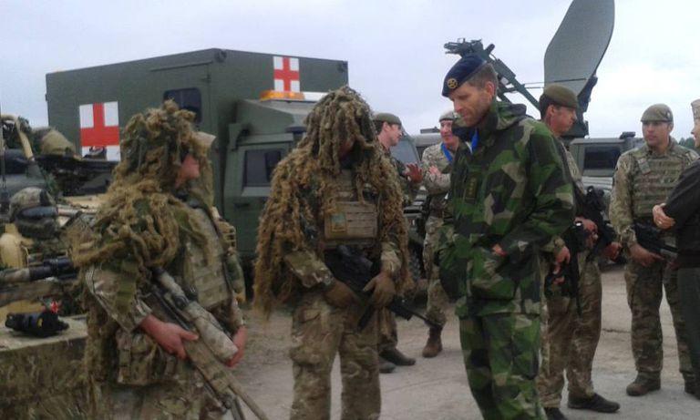 NATO exercises in Poland.
