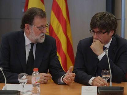 Mariano Rajoy and Carles Puigdemont.